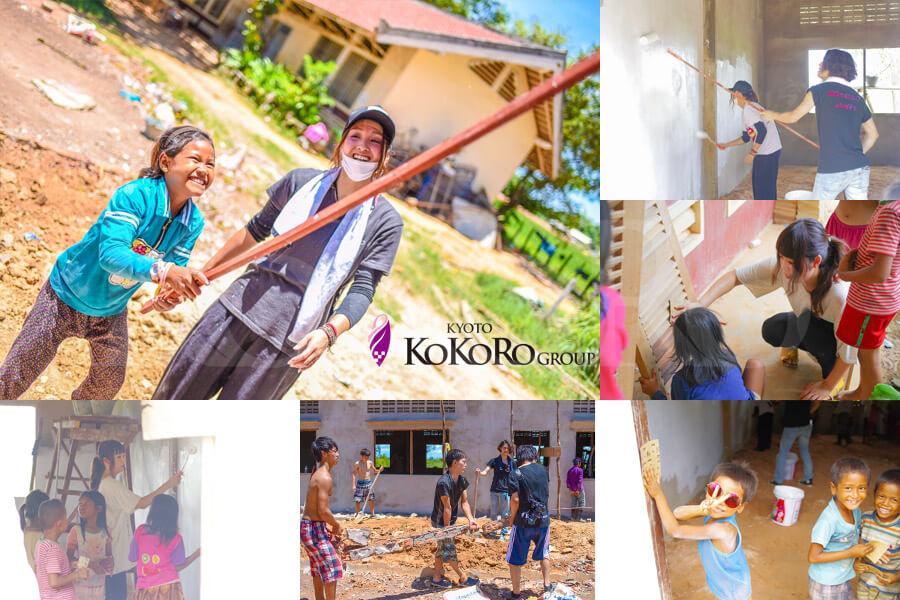 カンボジア学校建設